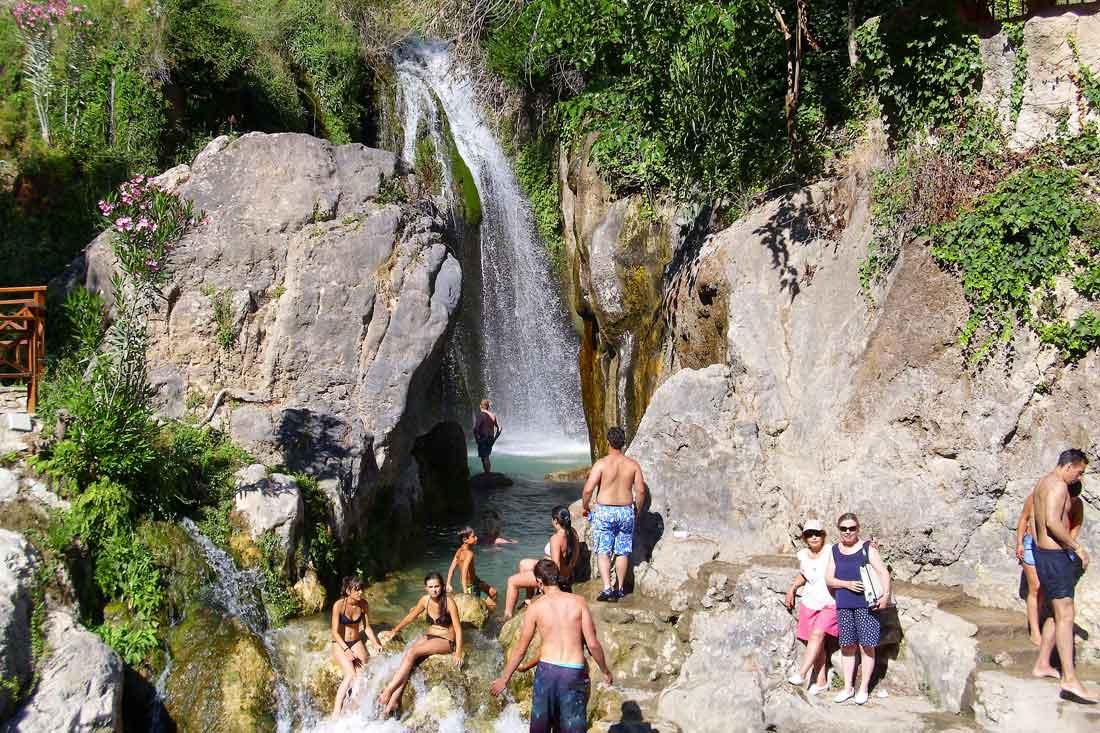cascada de Fuentes del Algar en Alicante