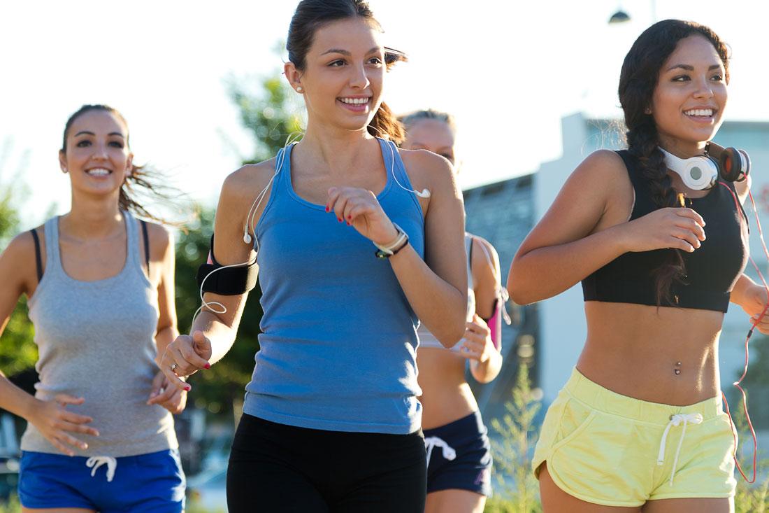 grupo de corredoras