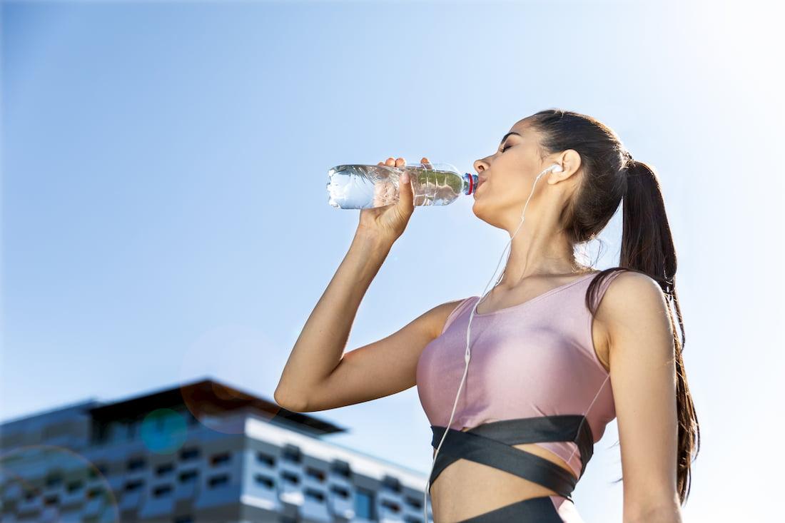 hidratación en el de deporte