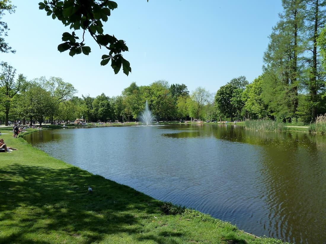 Vondelpark en Amsterdam